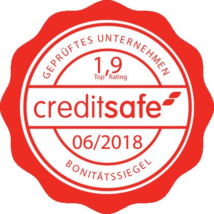 Bonitätssiegel der CredtitSafe Deutschland GmbH