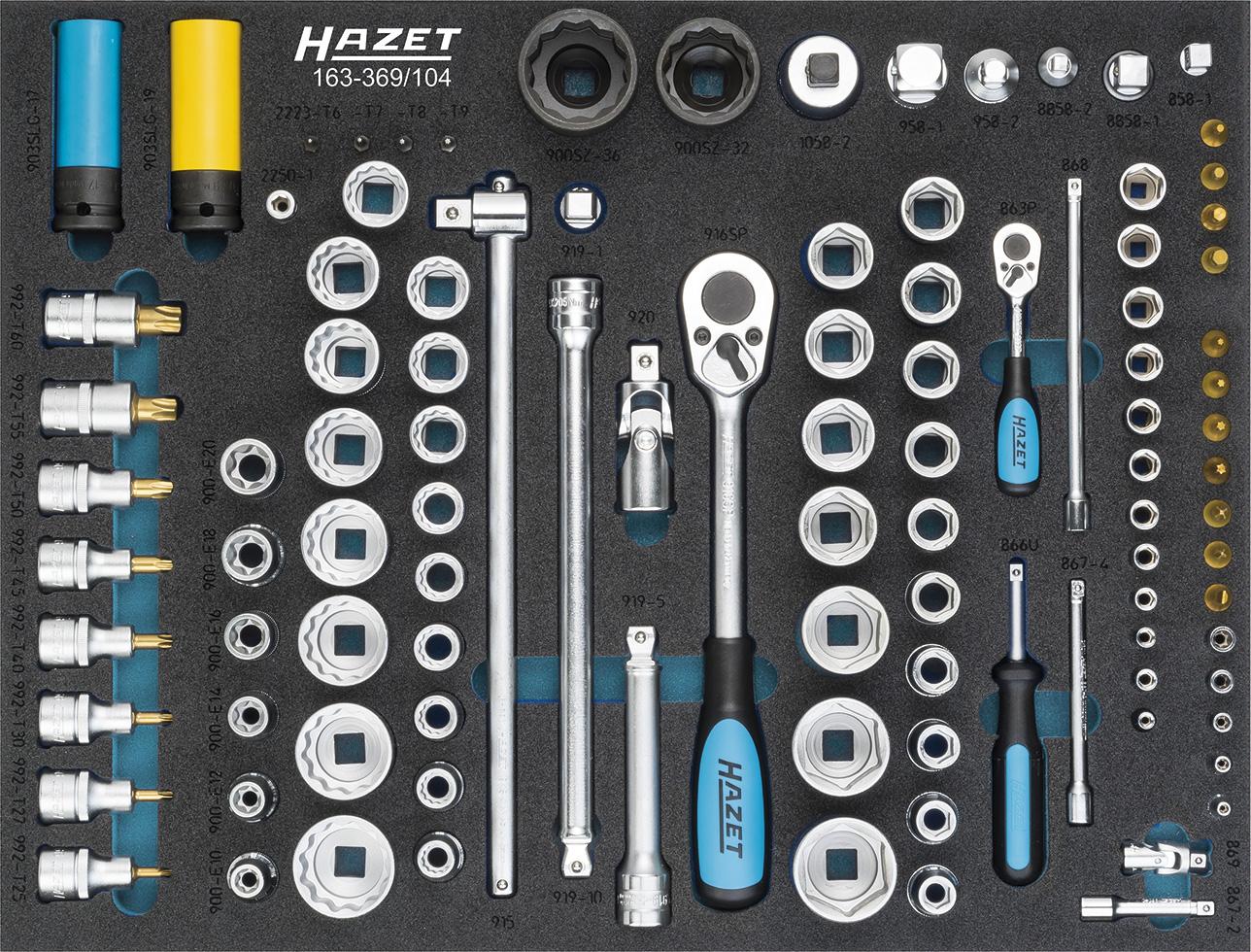 Hazet Steckschlüssel-Satz 163-369/104 | Dittmar - Werkzeuge
