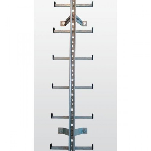 Guenzburger Einholmleiter Laenge 1,96m Stahl verz, 77534