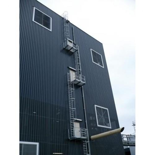 Guenzburger Mehrzuegige Steigleitern mit Rueckenschutz Aluminium eloxiert, 500140
