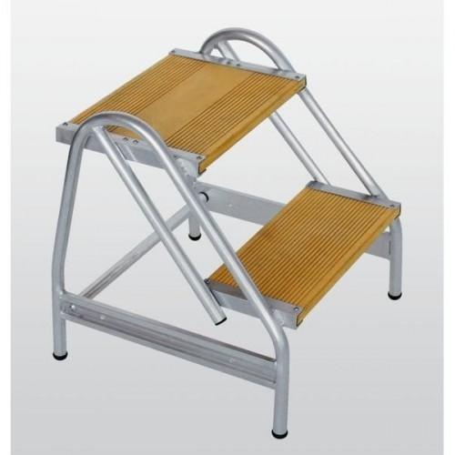 Guenzburger Aluminium-Arbeitspodest einseitig begehbar, 2 Stufen, 50056