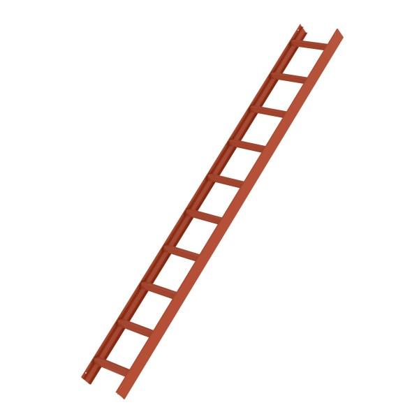 Günzburger Dachleiter, 10 Sprossen, Rot, 11115