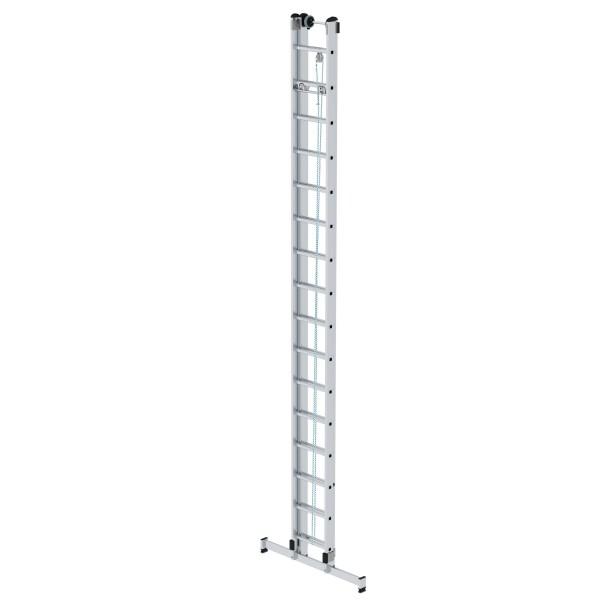 Günzburger Aluminium-Seilzugleiter 2-teilig mit nivello-Traverse 2 x 16 Sprossen, 21316