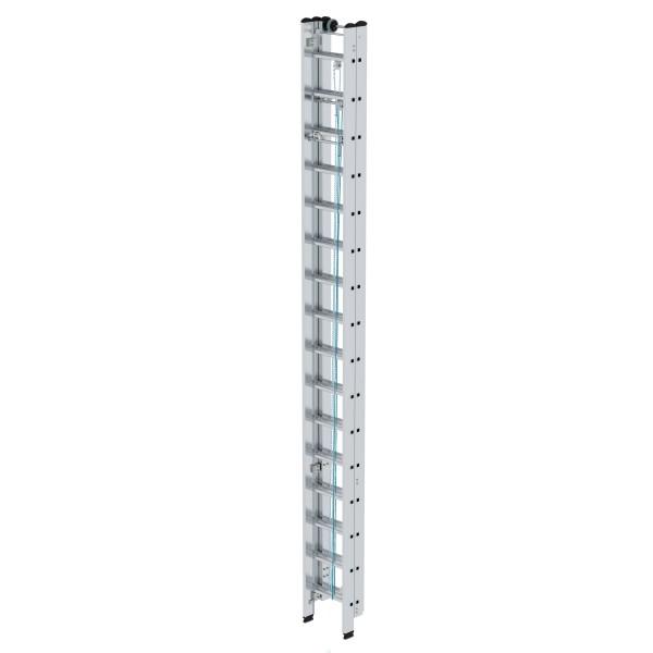 Günzburger Aluminium-Seilzugleiter 3 x 16 Sprossen, 22316