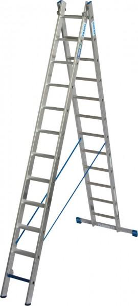 STABILO MehrzweckLeiter + S (Sicherheit) 2x12 Sprossen/Stufen, 131645