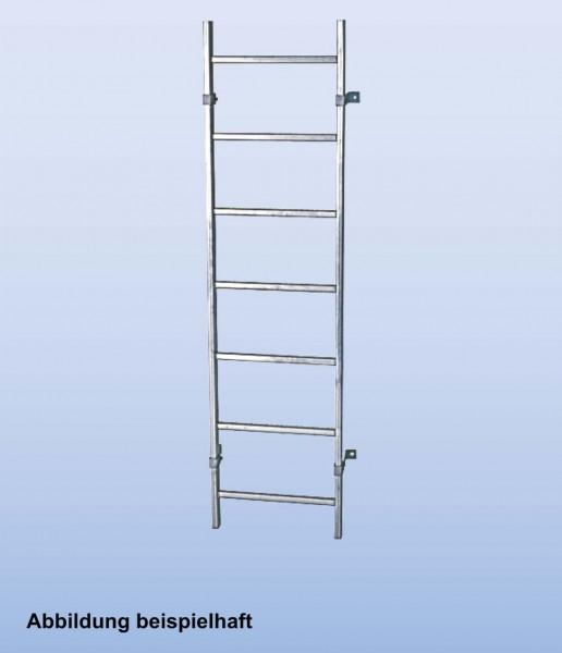 SchachtLeitern aus Stahl, feuerverzinkt, Lichte Weite 400 mm, Länge 1,12 m, Außenbreite 440 mm, 4 Sprossen, Artikel-Nr.: 815910