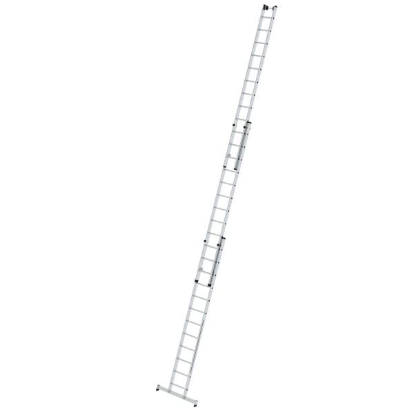 Günzburger Aluminium-Mehrzweckleiter 3-teilig mit nivello-Traverse 3 x 12 Sprossen, 33312