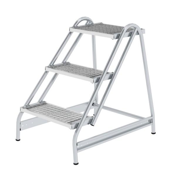 Günzburger Aluminium-Arbeitspodest einseitig begehbar, 3 Stufen, 50054