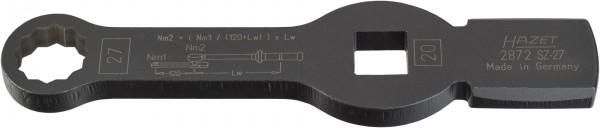 HAZET Schlag-Ringschlüssel (Doppel-6kt.) mit 2 Schlagflächen 2872SZ-27
