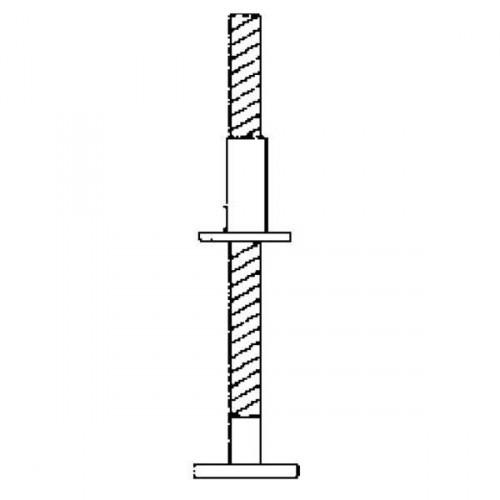 Guenzburger Hoehenverstellbare Spindel (300 mm) mit Fussplatte, 27104