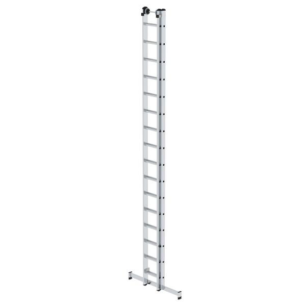 Günzburger Aluminium-Schiebeleiter mit nivello-Traverse 2x16 Sprossen, 20416