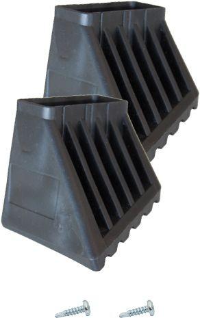 MONTO Kunststoff-Fußkappenset XL 50x20 links und rechts, 202024