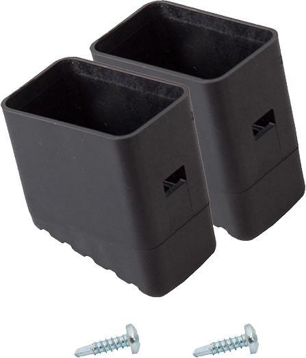 MONTO Fußkappe (Paar) schwarz 33x20 mm, für MONTO und CORDA Stufen-StehLeitern, 211415