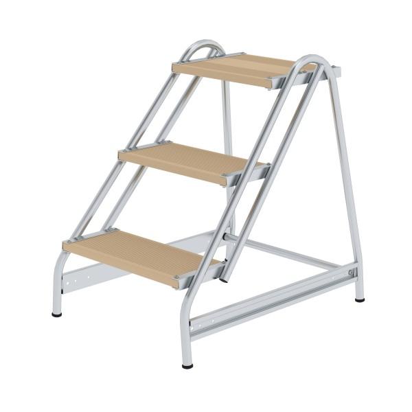 Günzburger Aluminium-Arbeitspodest einseitig begehbar, 3 Stufen, 50057
