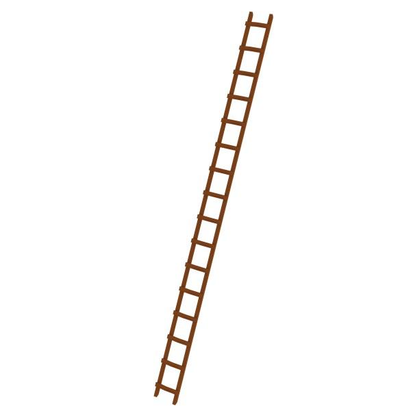 Günzburger Dachdeckerleiter aus Holz 16 Sprossen, 33123