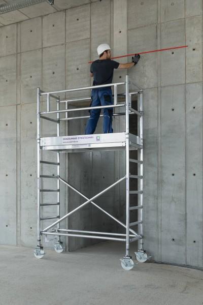 Günzburger Aluminium-Rollgerüst mit Fahrbalken*, Plattformen im 2m-Abstand, 156645