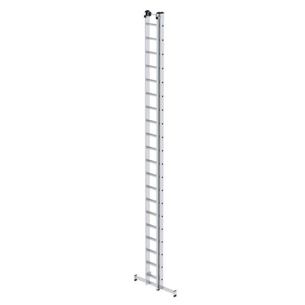 Günzburger Aluminium-Schiebeleiter mit nivello-Traverse 2x20 Sprossen, 20420