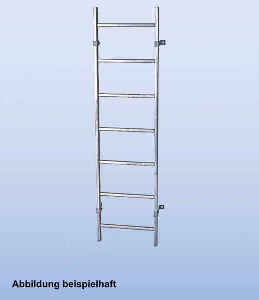 SchachtLeitern aus Edelstahl V4A, Lichte Weite 400 mm, Länge 1,68 m, Außenbreite 440 mm, 6 Sprossen, Artikel-Nr.: 816177