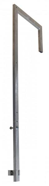 STABILO Ortsfeste Leitern, Systemteile, Ausstiegsgeländer (abgewinkelt) für Stahl-Steigleiter, 83531