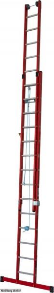 STABILO Kunststoff-SeilzugLeiter aus glasfaserverstärkten Kunststoff-Holmen, 2x16 Sprossen, 815736