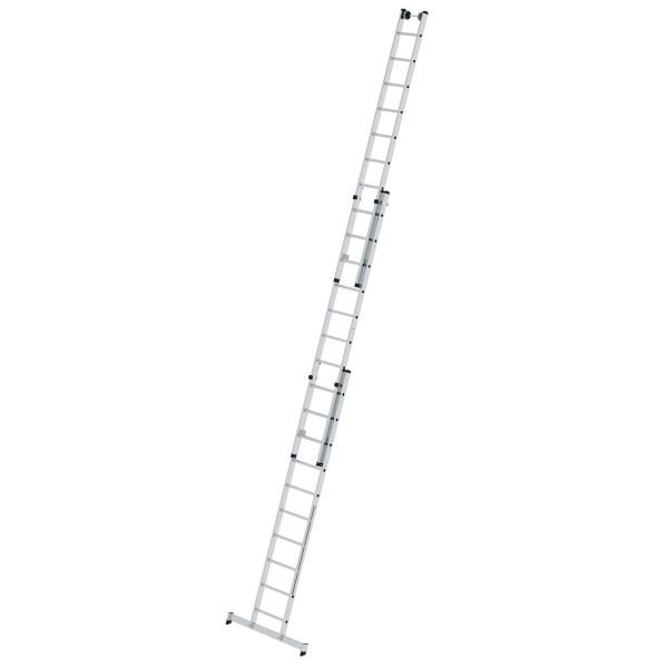 Günzburger Aluminium-Mehrzweckleiter 3-teilig mit nivello-Traverse 3 x 10 Sprossen, 33310
