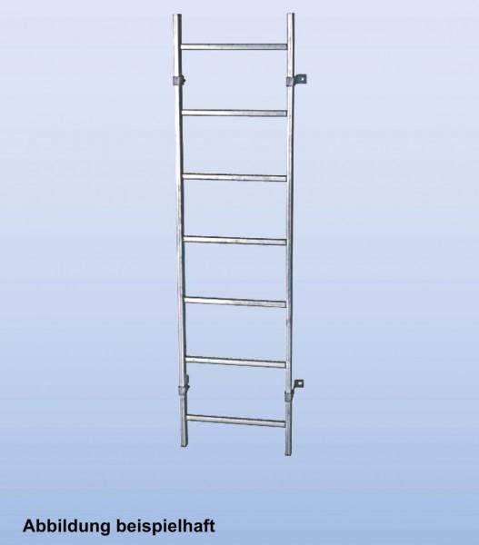 SchachtLeitern aus Stahl, feuerverzinkt, Lichte Weite 300 mm, Länge 1,68 m, Außenbreite 340 mm, 6 Sprossen, Artikel-Nr.: 815811