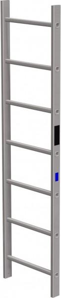 STABILO Ortsfeste Leitern, Systemteile, Leiternteil 1,96 m Aluminium, 838001