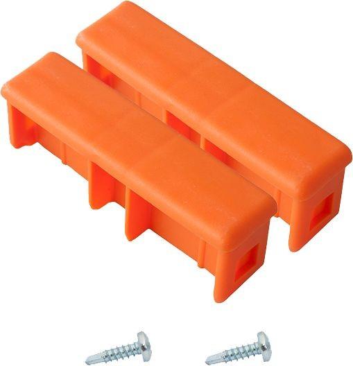 MONTO  Kopfstopfen (Paar) 97x25 mm, orange, für MONTO Schiebe-, Seilzug- und VielzweckLeiter, 211224
