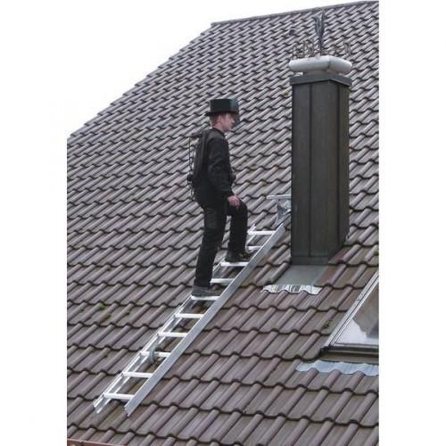 Guenzburger Dachleiter, 15 Sprossen, Braun, 11143