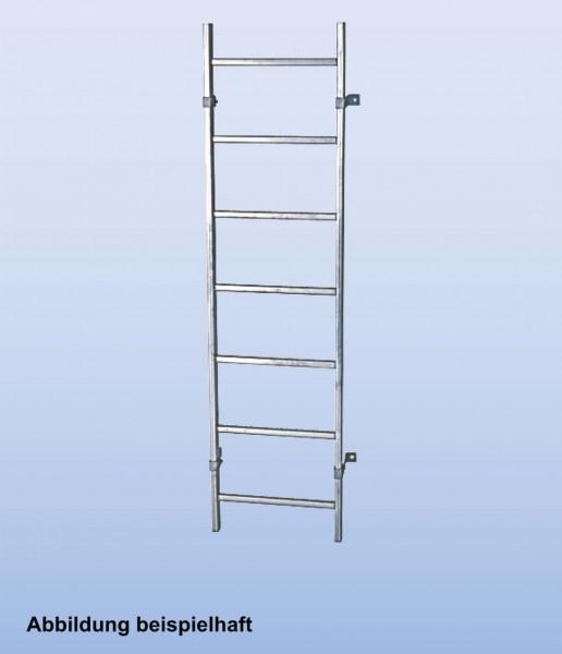 SchachtLeitern aus Stahl, feuerverzinkt, Lichte Weite 300 mm, Länge 3,36 m, Außenbreite 340 mm, 12 Sprossen, Artikel-Nr.: 815873