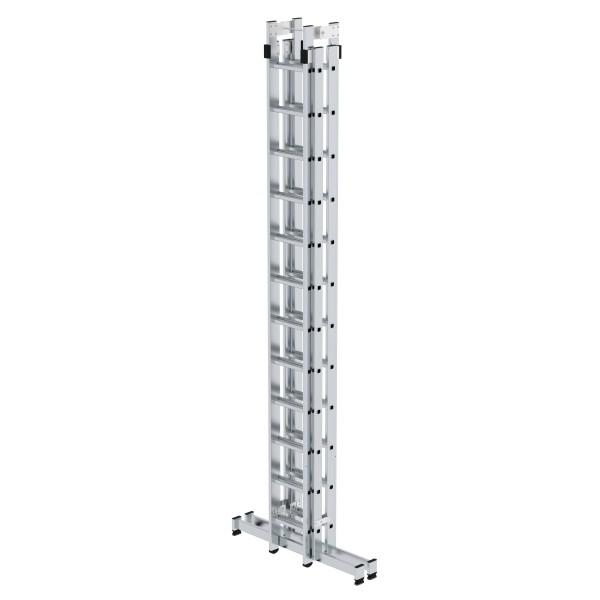 Günzburger Aluminium-Stehleiter 4-teilig mit nivello-Traverse 4 x 12 Sprossen, 33048