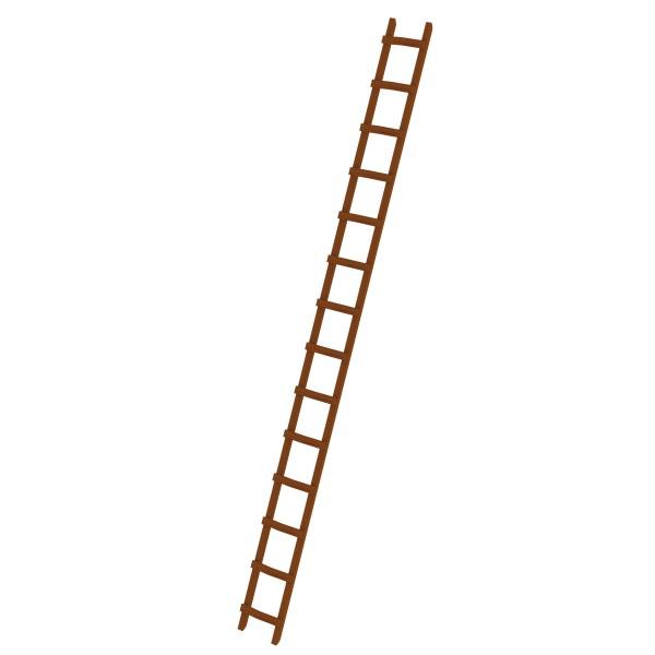 Günzburger Dachdeckerleiter aus Holz 14 Sprossen, 33122