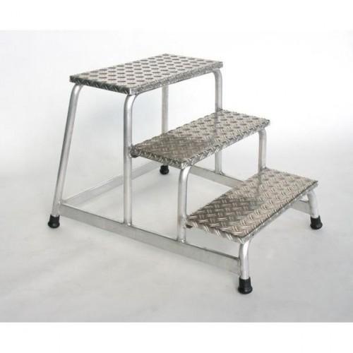 Guenzburger Aluminium-Arbeitspodest, starr, 3 Stufen, 50009