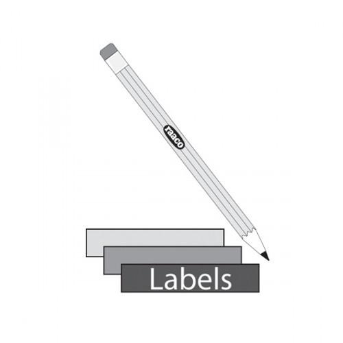 Raaco Etikett Regalschublade, 12 Stk, 111362