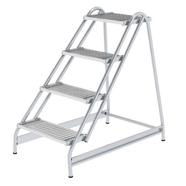 Günzburger Aluminium-Arbeitspodest einseitig begehbar, 4 Stufen, 50055