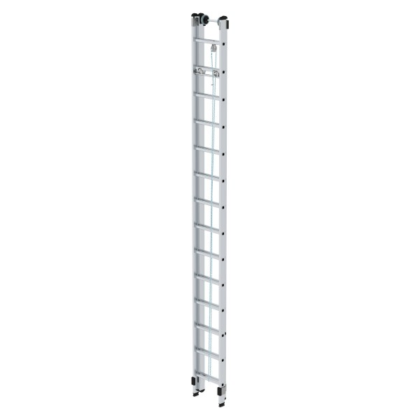 Günzburger Aluminium-Seilzugleiter 2 x 14 Sprossen, 21214