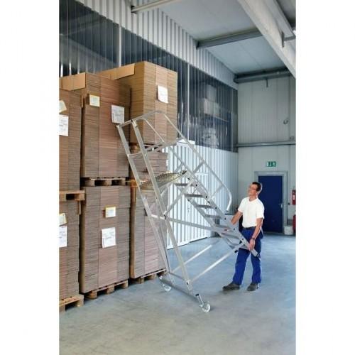 Guenzburger Aluminium-Plattformleiter fahrbar, 9 Stufen, 52509