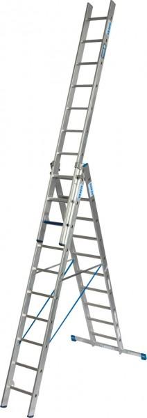 STABILO VielzweckLeiter + S (Sicherheit) 3x10 Sprossen/Stufen, 131669