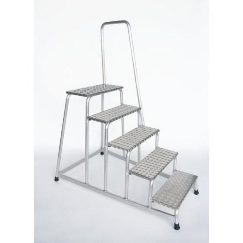 Guenzburger Aluminium-Arbeitspodest, mit Handlauf, starr, 5 Stufen, 50045
