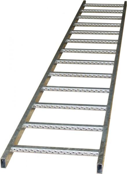 STABILO Ortsfeste Leitern, Systemteile, Leiternteil Stahl verzinkt, 3,64 m, 835550