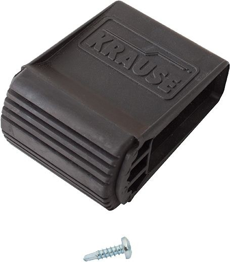 Ableitfähige Traversenfußkappe 64x25 mm, schwarz, 212627