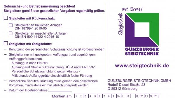Günzburger Kennzeichnungsschild, 19007