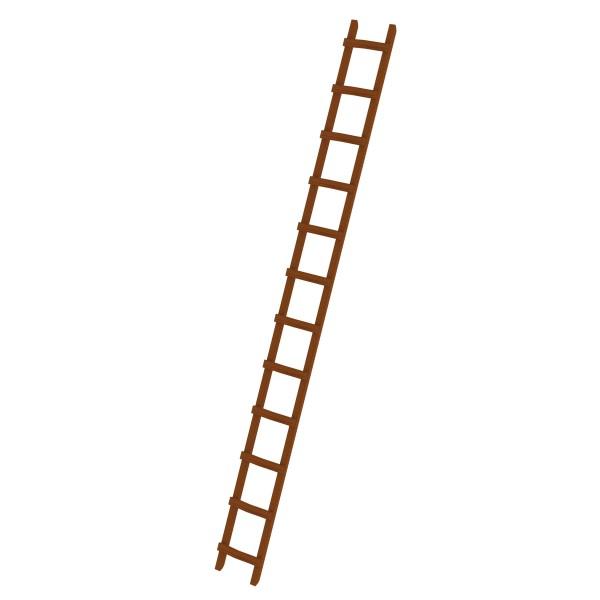 Günzburger Dachdeckerleiter aus Holz 12 Sprossen, 33121