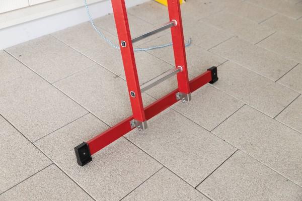 Günzburger Kunststoff-Anlegeleiter mit Standtraverse 14 Sprossen, 35314