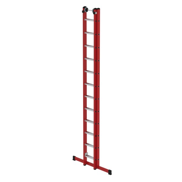 Günzburger Kunststoff-Schiebe- u. Seilzugleiter mit Standtraverse 2 x 12 Sprossen, 35512