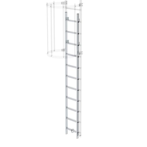 Günzburger Aluminium-Einstiegsleiter Aluminium blank, 61445