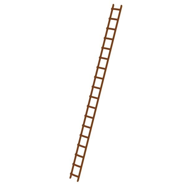 Günzburger Dachdeckerleiter aus Holz 18 Sprossen, 33124