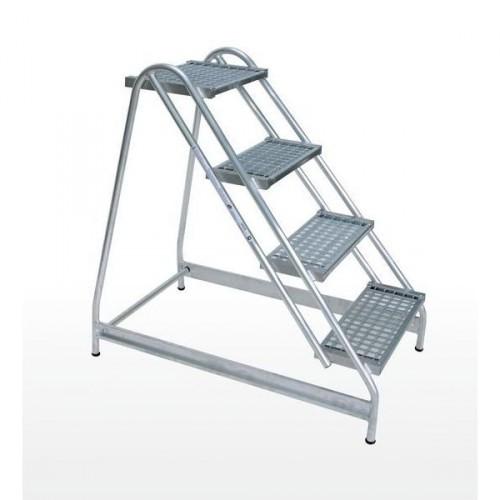 Guenzburger Aluminium-Arbeitspodest einseitig begehbar, 4 Stufen, 50055