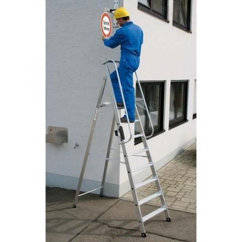 Guenzburger Aluminium-Stehleiter 7 Stufen, 50087