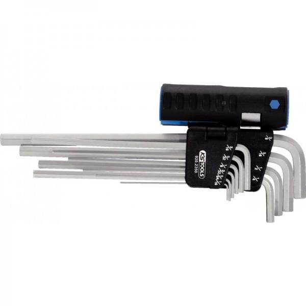 KS Tools Innen6kant-Winkelstiftschlüssel-Satz XL,10-tlg.Zoll,3in1, 920.2350